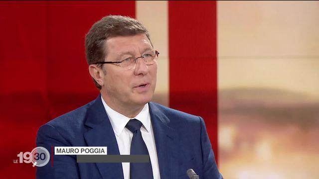 La réaction de Mauro Poggia à la décision belge de mettre les cantons lémaniques sur liste rouge [RTS]
