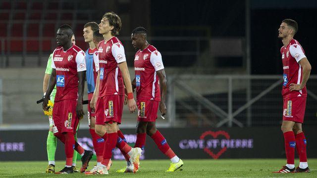 Le FC Sion après avoir perdu contre les Young Boys. [Salvatore Di Nolfi - Keystone]
