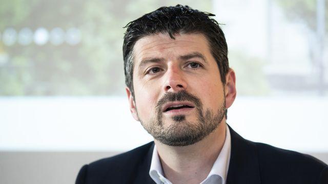 Le PDC Yannick Buttet, président de la commune valaisanne de Collombey-Muraz. [Jean-Christophe Bott - Keystone]