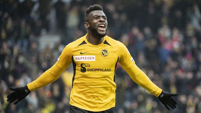 Nsame est entré dans l'histoire de la Super League cette saison. [Alessandro della Valle - Keystone]