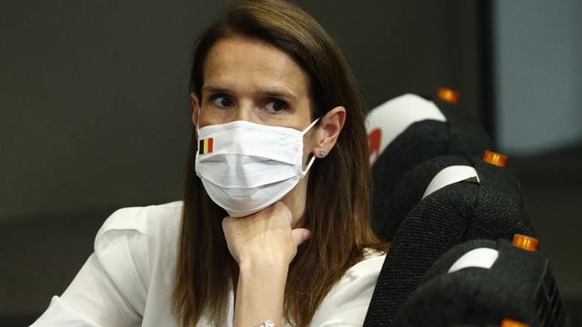 La Première ministre belge Sophie Wilmes. [FRançois Lenoir - Pool/AP/Keystone]