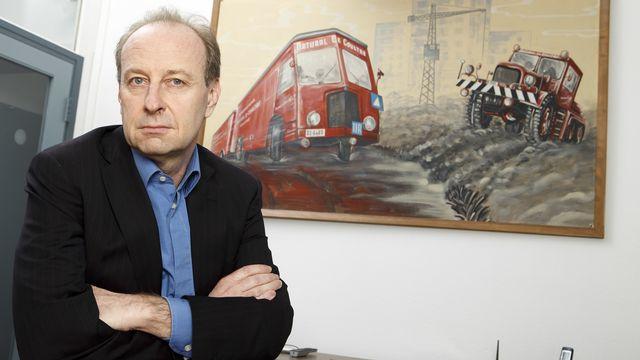 Yves Bouvier, dans son bureau à Genève le 27 mars 2015. [Salvatore Di Nolfi - Keystone]