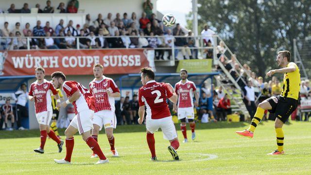 Le FC Bavois ici en 2014 face à Young Boys. [Laurent Gillieron - Keystone]