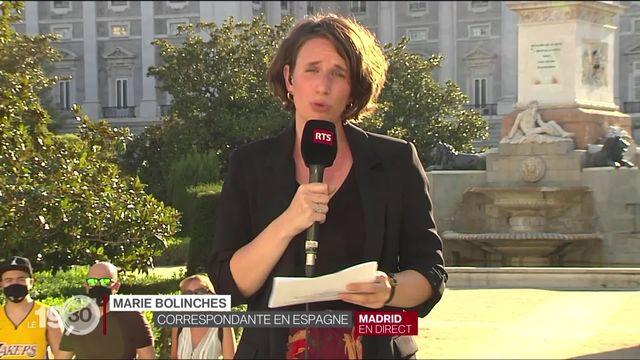 Exil de l'ex-roi Juan Carlos d'Espagne: le commentaire de Marie Bolinches. [RTS]