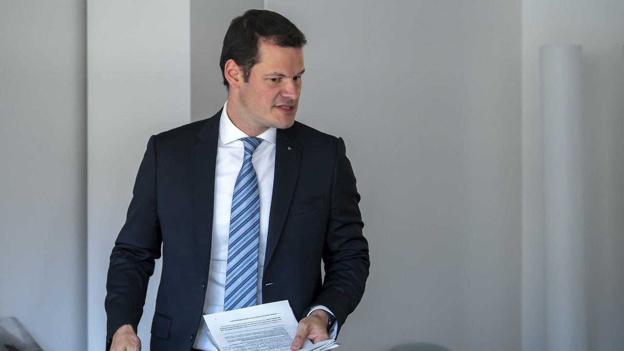 Le conseiller d'Etat Pierre Maudet accepte son exclusion du PLR genevois. [Martial Trezzini - Keystone]