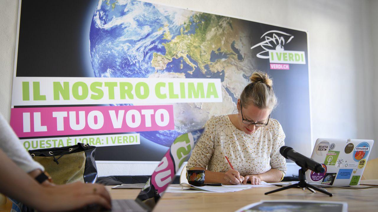 Les Verts veulent une stratégie climatique plus dure et complète. [Anthony Anex - Keystone]
