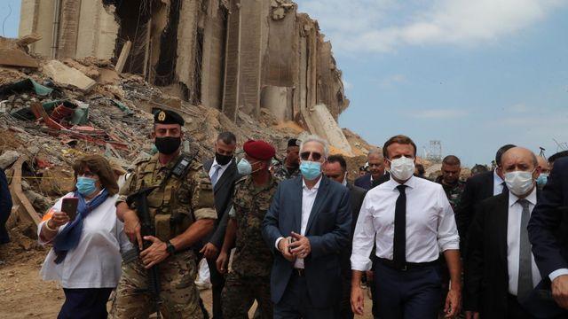 """Arrivé jeudi au Liban, Emmanuel Macron a exhorté le gouvernement libanais à entreprendre """"des réformes indispensables"""" [Dalati and Nohra - AFP/Stringer]"""