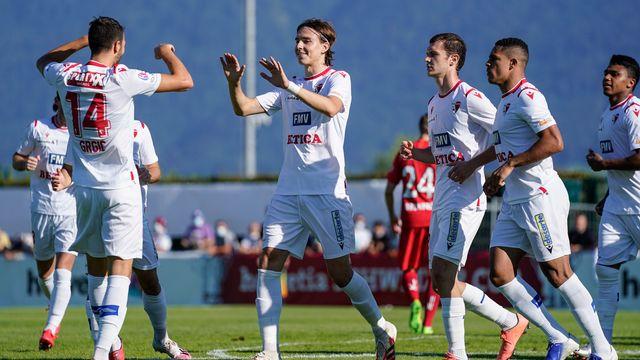 Uldrikis (au centre) a ouvert le score dès la 3e minute. [Claudio Thoma - Freshfocus]
