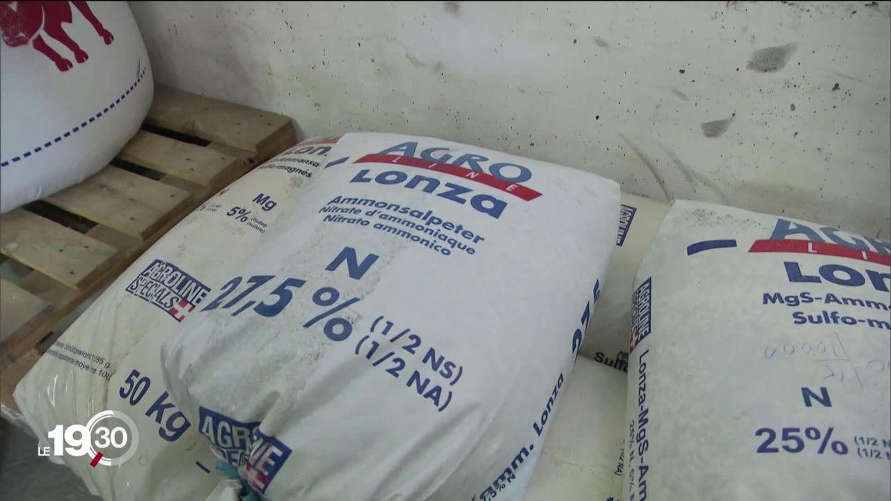 Nitrate d'ammonium. Comment est-il stocké et quelles quantités transitent dans notre pays ? [RTS]