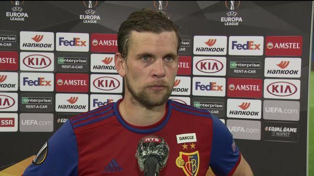 1-8, FC Bâle - Eintracht (1-0): l'interview du buteur de la soirée, Fabian Frei [RTS]