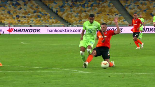 Shaktar - Wolsburg (3-0): les Ukrainiens s'imposent aisément et accèdent à la suite du tournoi. [RTS]