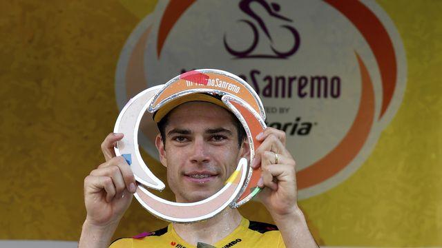 Le cycliste belge Wout Van Aert a remporté le Milan-San Remo. [Gian Mattia D'Alberto - AP/Keystone]