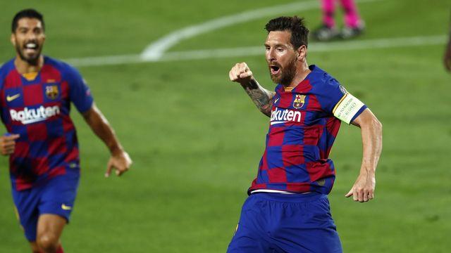 Lionel Messi et ses coéquipiers n'ont pas tremblé face à Naples. [Joan Monfort - Keystone]