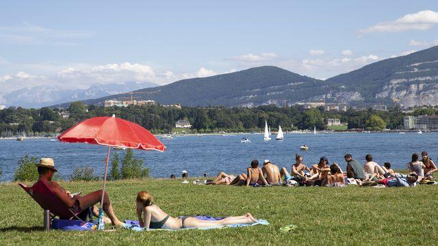 Le canton de Genève a été placé sous degré de danger 3 face à la canicule. [Salvatore Di Nolfi - Keystone]