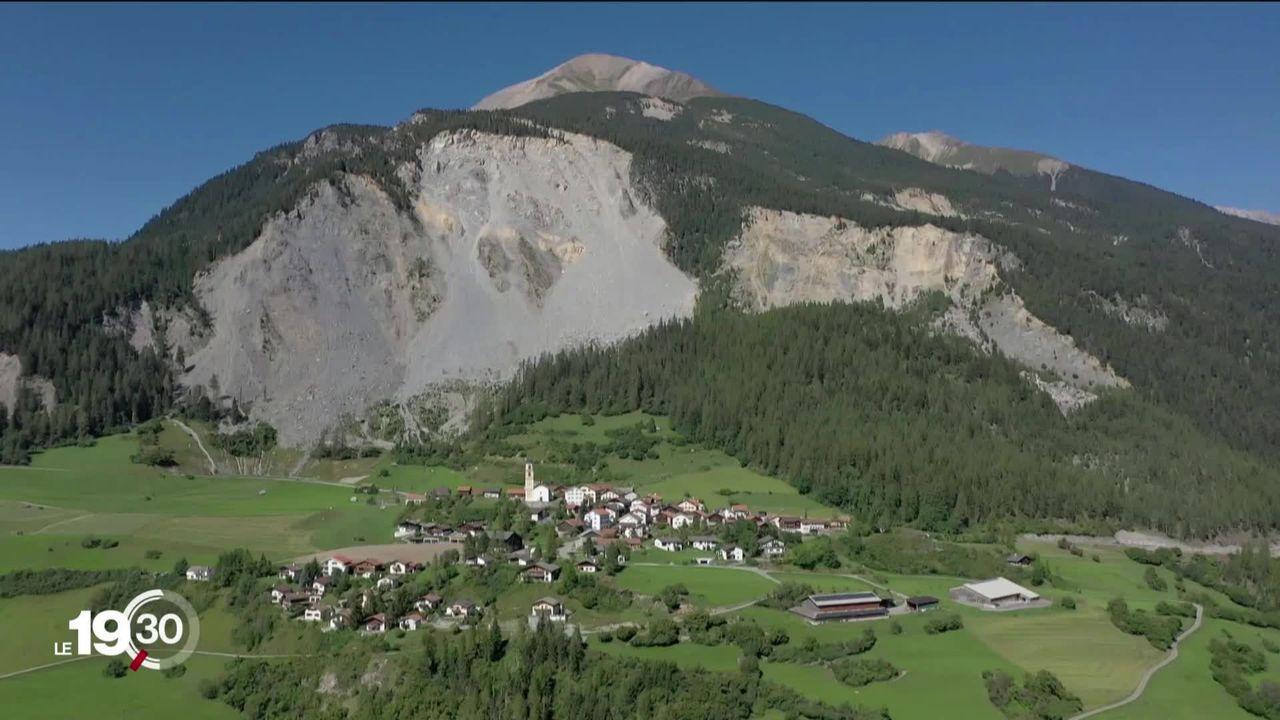 Les glissements de terrains menacent Brienz (GR) [RTS]