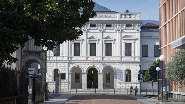 Le Tribunal pénal fédéral à Bellinzone, lundi 10.08.2020. [Pablo Gianinazzi - Ti-Press/Keystone]