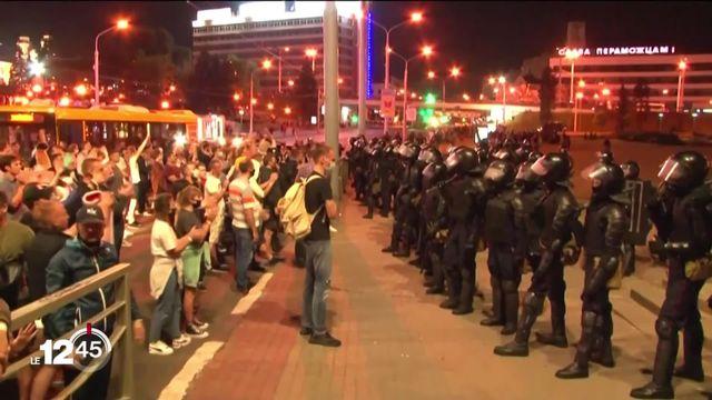 En Biélorussie, l'opposition en colère dans la rue après la réélection d'Alexandre Loukachenko. [RTS]