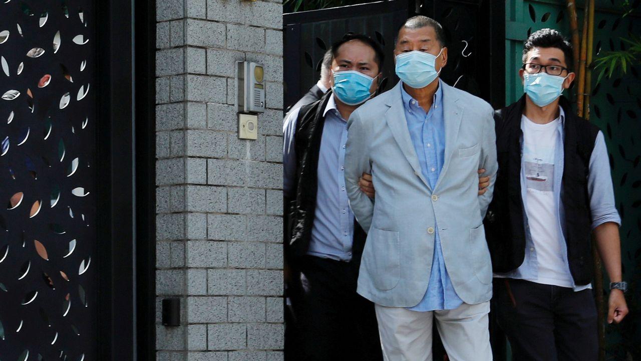 Le milliardaire et patron de presse hongkongais Jimmy Lai fait partie des figures du camp pro-démocratie arrêtées lundi. [Tyrone Siu - Reuters]