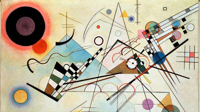 """Composition VIII"" Peinture de Vassily Kandinsky, 1915. [Luisa Ricciarini - AFP]"