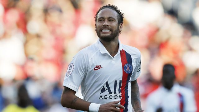 Neymar sera l'atout numéro 1 des Parisiens face à l'Atalanta. [Christophe Ena - Keystone]