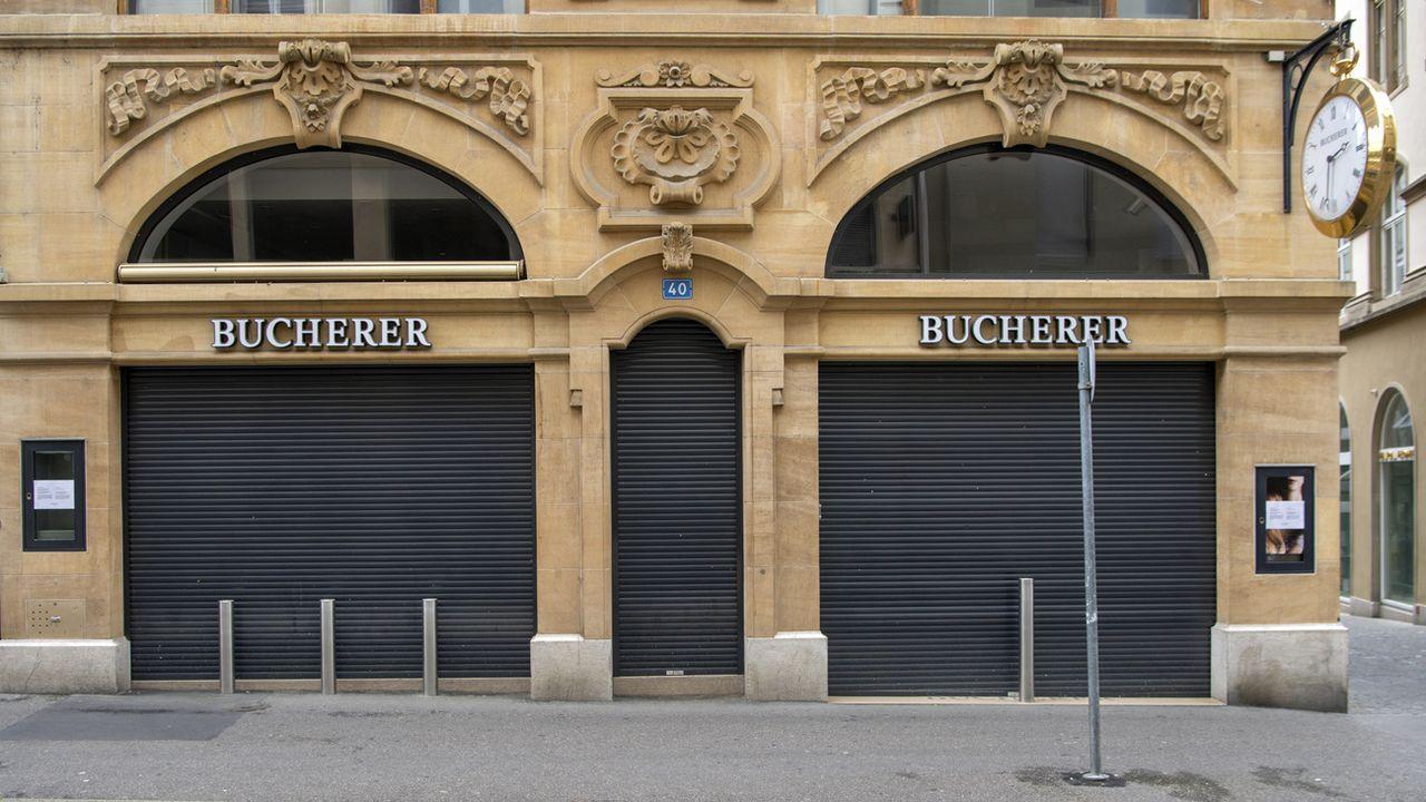 La boutique de Bâle, fermée le 2 mai dernier (image d'illustration). [Georgios Kefalas - Keystone]