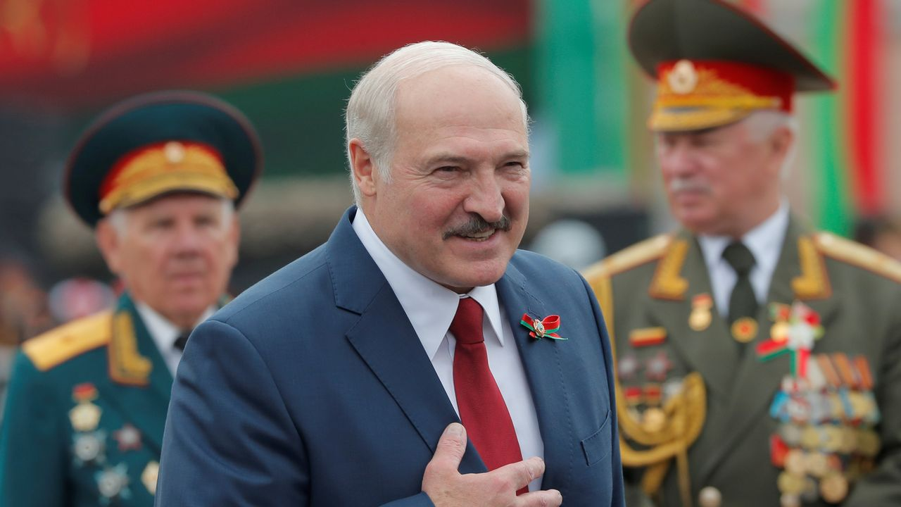 Le président biélorusse Alexandre Lukachenko, le 3 juillet 2020. [Vasily Fedosenko - Reuters]