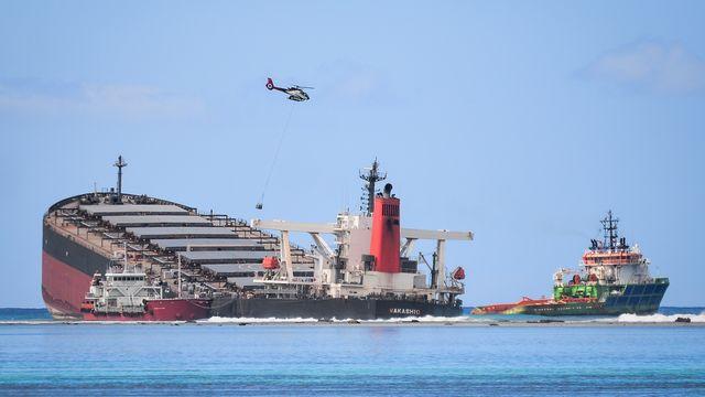Le pétrolier japonais MV Wakashio a pu être vidé du reste de son contenu avant qu'il ne provoque une seconde marée noire. [Sumeet Mudhoo - AFP]