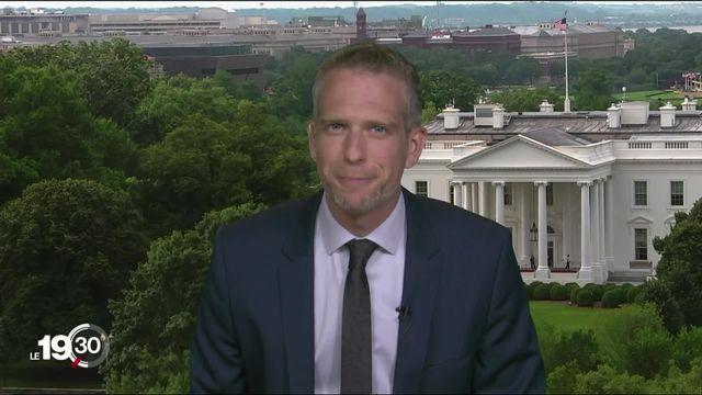 """""""Les démocrates jouent la carte de la sécurité"""" selon Gaspard Kühn, correspondant à Washington DC [RTS]"""