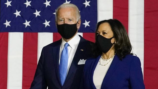 Joe Biden etKamala Harris, mercredi 12.08.2020 à Wilmington (Delaware). [Carolyn Kaster - AP/Keystone]