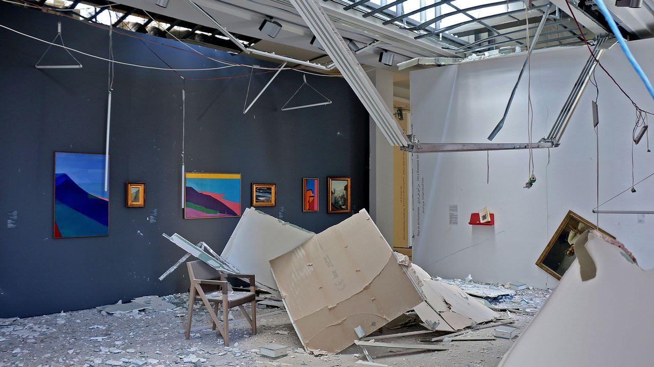 Les dégâts dans le Sursock Museum de Beyrouth le 8 août 2020. [Sursock Museum / AFP]