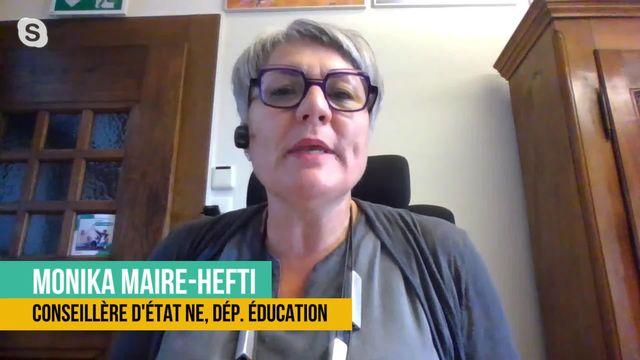 Quel bilan tirer de l'enseignement à distance avant la rentrée scolaire? Interview de Monika Maire-Hefti [RTS]