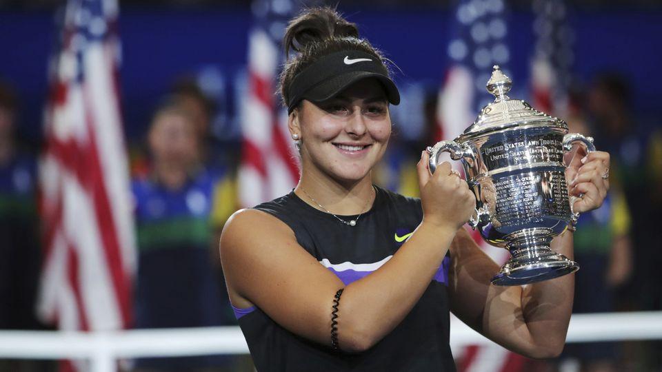 La tenante du titre Bianca Andreescu sera elle aussi absente de l'édition 2020 de l'US Open. [AP Photo/Charles Krupa, FIle - Keystone]