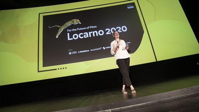 La directrice artistique du Festival du film de Locarno, Lili Hinstin, le 6 août 2020. [Pablo Gianinazzi - Keystone]
