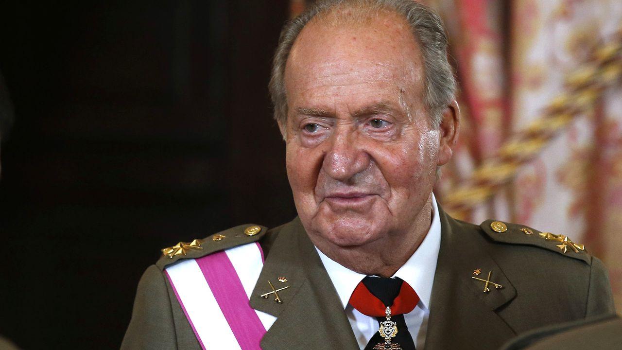 Juan Carlos d'Espagne photographié à Madrid en juin 2014. [Andrea Comas - Pool/AFP]