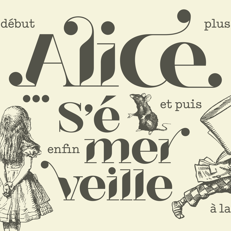"""Alice s'émerveille"" - Logo podcast [RTS]"