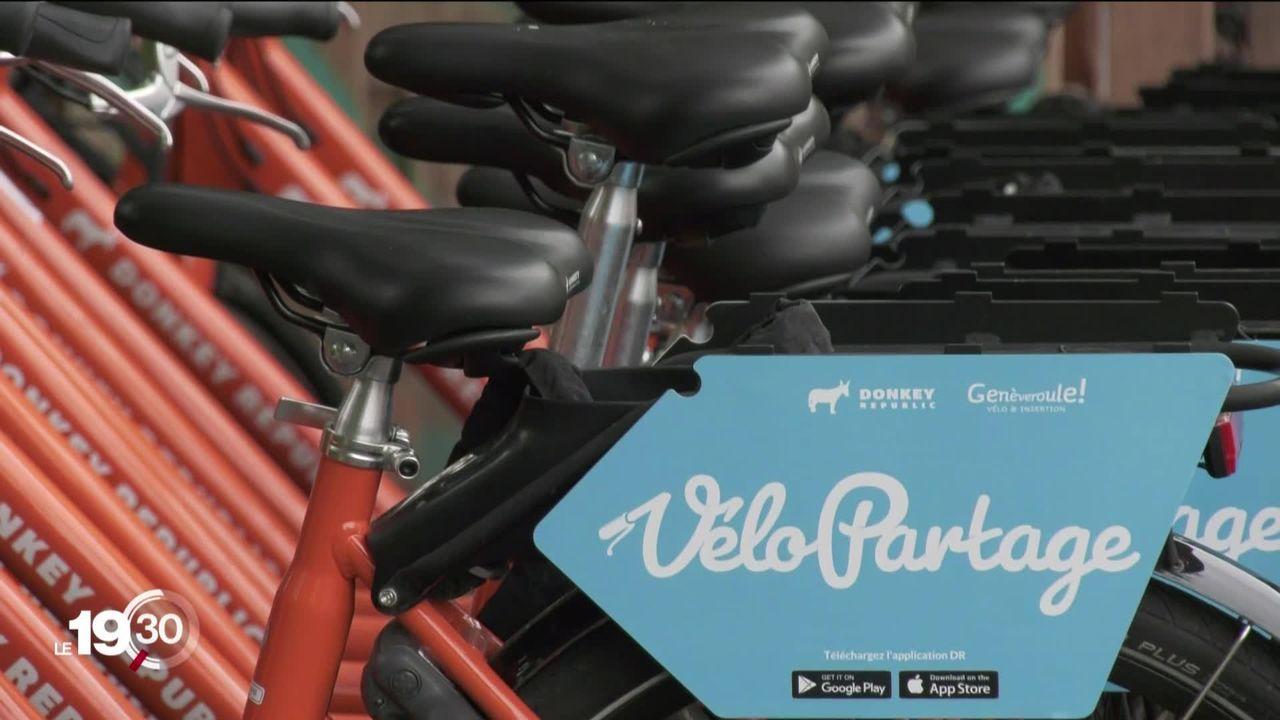 Genève lance ses vélos en libre-service et tente de rattraper son retard sur les autres villes [RTS]