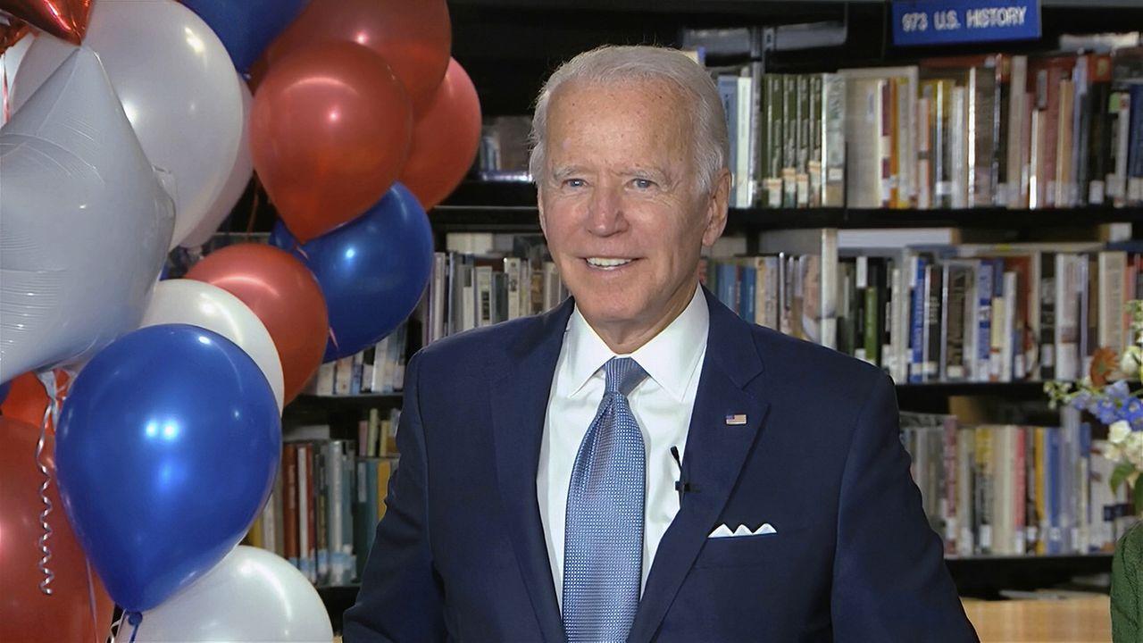 Joe Biden a été formellement désigné mardi comme le candidat démocrate pour l'élection présidentielle de novembre. [Democratic National Convention - Keystone/AP]