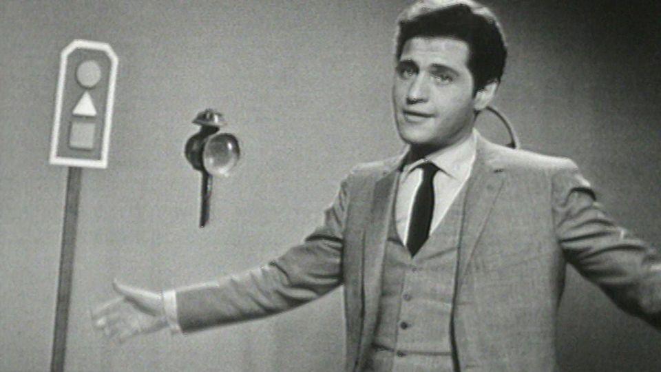Le chanteur Joe Dassin en 1966. [RTS]