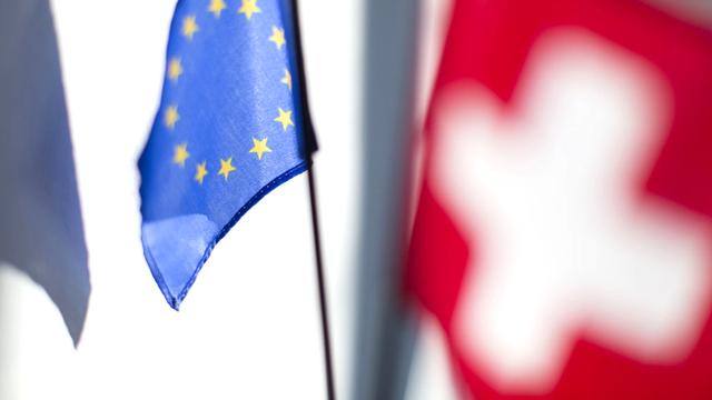 L'accord de libre circulation entre la Suisse et l'Union européenne est entré en vigueur en 2002. [Gaëtan Bally - Keystone]