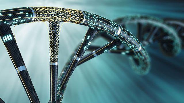 Depuis plusieurs années, les laboratoires tentent de démontrer l'incroyable potentiel de stockage de l'ADN artificiel. [Sergii Iaremenko - Science Photo Library/AFP]