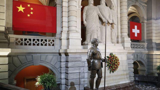 Des agents chinois peuvent entrer en Suisse sans statut officiel pour surveiller leurs compatriotes. [POOL/Peter Klaunzer - Keystone]