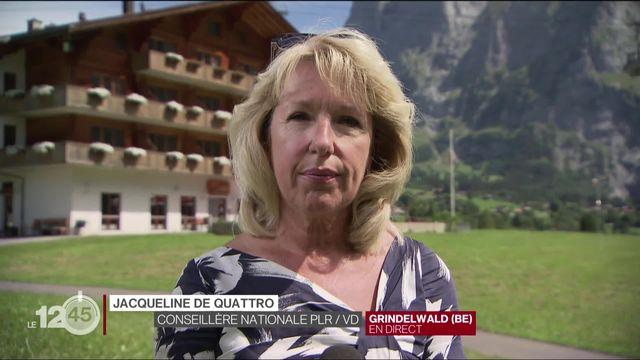 """Initiative """"Pour une immigration modérée"""": les arguments du camp du NON avec Jacqueline de Quattro. [RTS]"""
