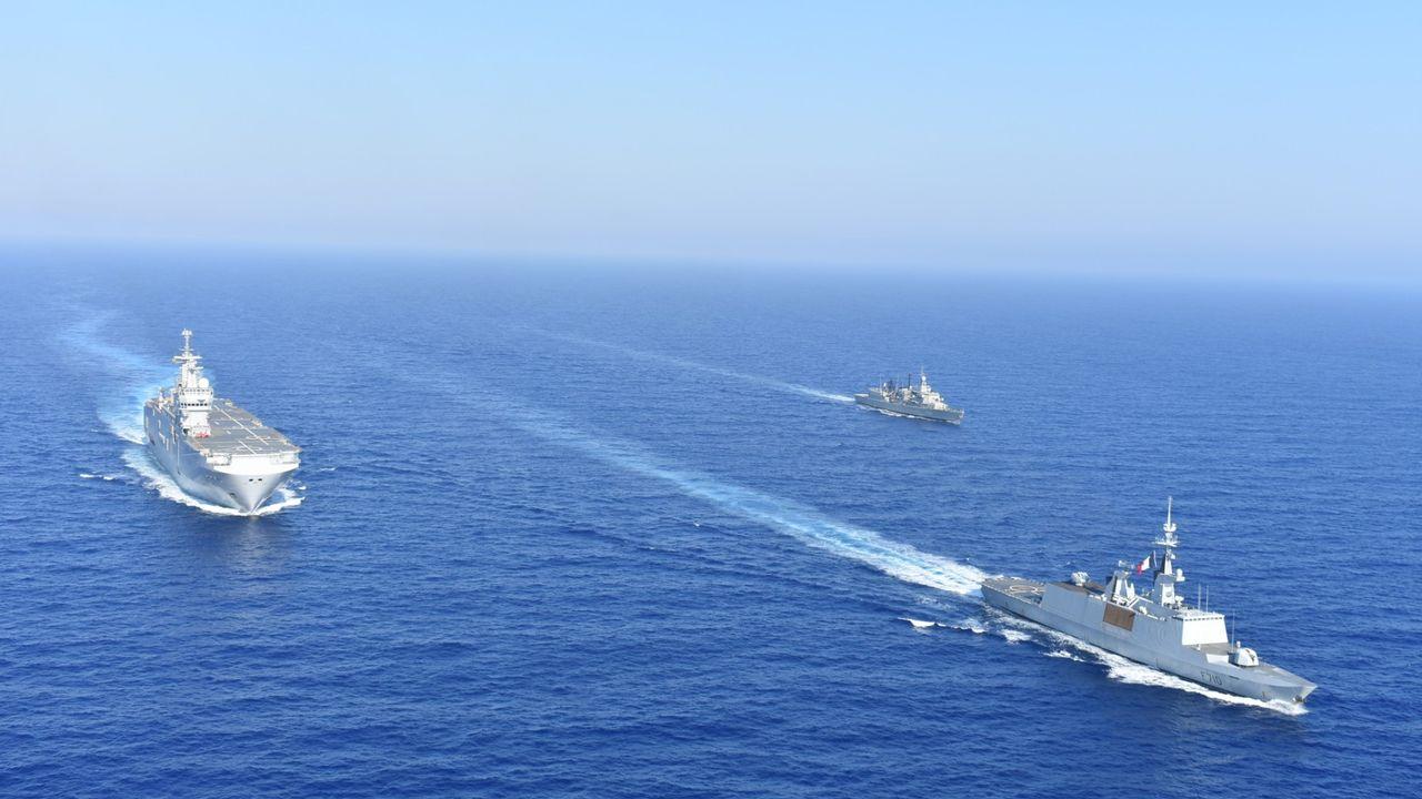 Nouvelle escalade de tension entre la France et la Turquie en Méditerranée orientale. [Ministère grec de la défense - Keystone]