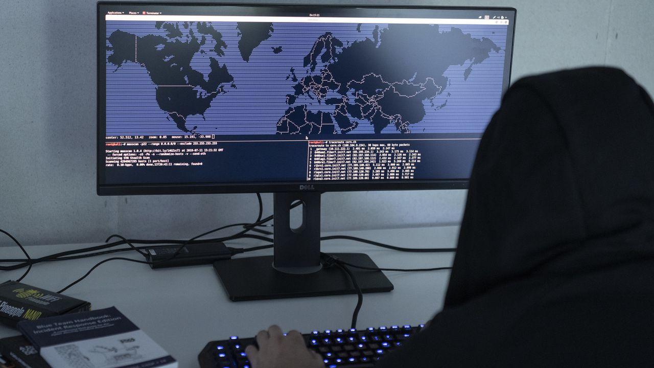 Un pirate informatique a été arrêté à Genève. [str - KEYSTONE]