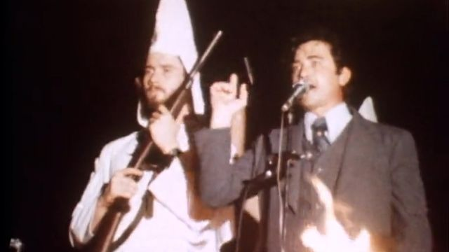 La campagne du Klu Klux Klan en 1979. [RTS]