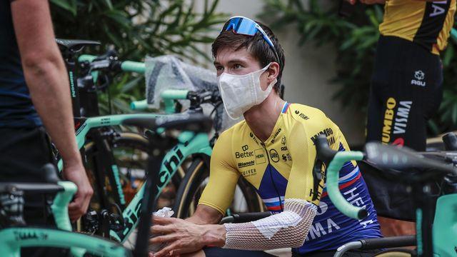 Le Tour de France 2020 débute encadré par les mesures sanitaires contre le Covid-19. [Christophe Petit Tesson - EPA/Keystone]