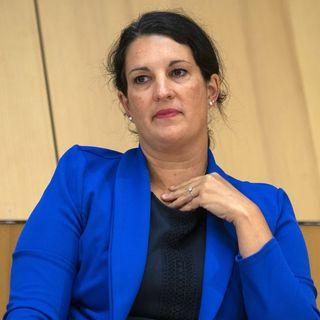 Delphine Klopfenstein Broggini est la nouvelle présidente des Verts genevois. [Salvatore Di Nolfi - Keystone]