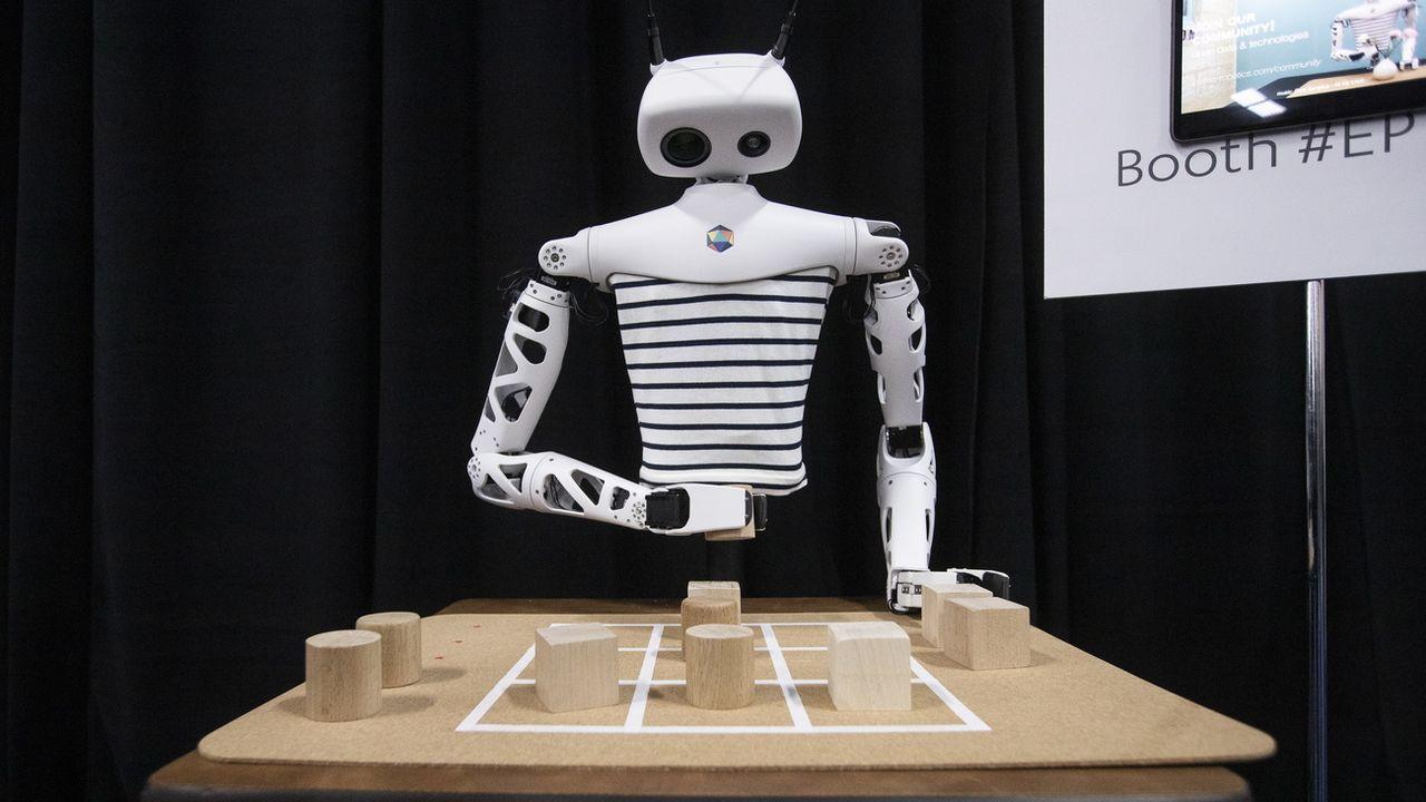 Un robot présenté lors du dernier CES de Las Vegas en janvier. [EPA/Etienne Laurent - Keystone]