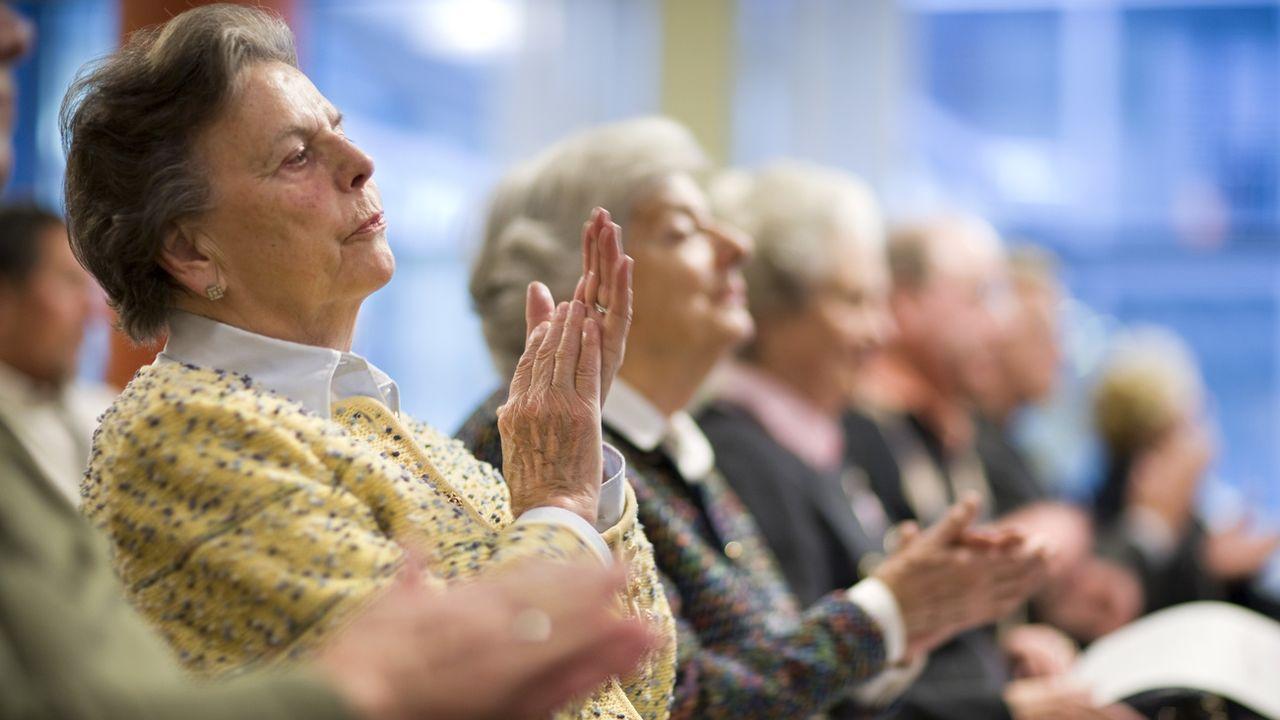 L'Union syndicale suisse (USS) veut attirer l'attention sur l'inégalité des rentes entre les hommes et les femmes. [Gaetan Bally - Keystone]