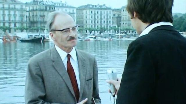 Le jet d'eau  de Genève raconté par un responsable des SIG, 1970. [RTS]